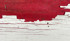 Peeled paint color on red  wood Royalty Free Stock Images