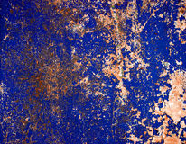 Peeled paint surface. Decayed painted metal plate texture Royalty Free Stock Images