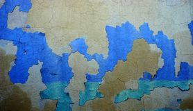 Peeled paint on a wall surface Royalty Free Stock Image