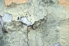 Peeled paint on a wall surface Stock Image