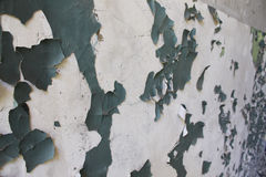 Peeled paint on the walls Stock Images