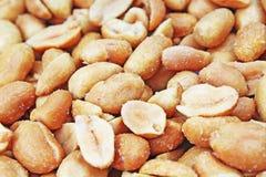 Peeled peanuts background food photography in studio. Close up macro peanuts photo. Beautiful salted roasted peanuts Stock Images