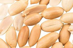 Peeled peanuts for background.Top view, close up Stock Images