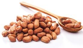 Peeled peanuts isolated Stock Photography