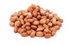 Peeled peanuts isolated Royalty Free Stock Image