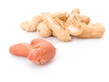 Peeled peanuts pile Royalty Free Stock Images