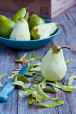 Peeled pear Stock Images