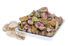 Peeled Pistachios (on white) Royalty Free Stock Photography