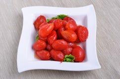 peeled plum tomatoes Royalty Free Stock Photo