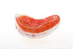 Peeled pomelo pieces isolated on white background Royalty Free Stock Photos