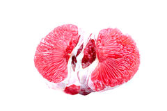 Peeled pomelo pieces Royalty Free Stock Images