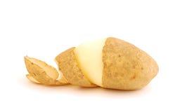 Peeled potato. One peeled potato isolated on white Royalty Free Stock Photography