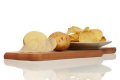 Peeled potato Royalty Free Stock Photography