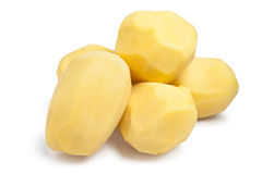 Peeled potatoes Stock Image