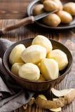 Peeled potatoes Royalty Free Stock Photos