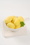 Peeled potatoes Royalty Free Stock Images