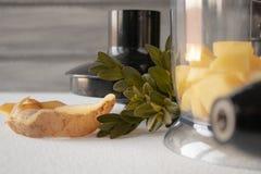 Natural potatoes peeled and sliced royalty free stock image