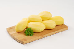 Peeled potatoes Royalty Free Stock Photography