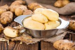 Peeled Potatoes Royalty Free Stock Photo