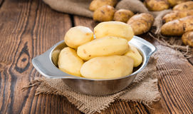 Peeled Potatoes Stock Photography