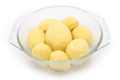 Peeled potatos Royalty Free Stock Photos