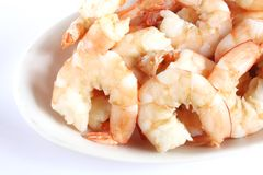 Peeled Prawns Stock Images
