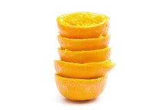 Oranges - Stack of Orange Peels Stock Photo