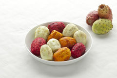 Peeled Prickly Pear Fruit Royalty Free Stock Images