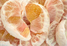 Peeled pummelo fruit Stock Image