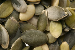 Peeled pumpkin seeds. Stock Photos