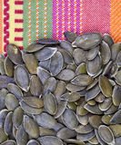 Peeled pumpkin seeds Stock Photo