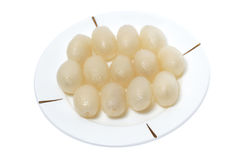 Peeled Rambutans Royalty Free Stock Photography