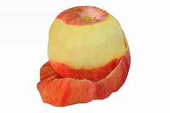 Peeled red apple Royalty Free Stock Photos