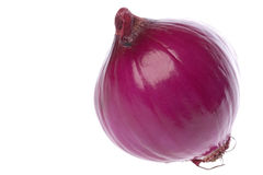 Peeled Red Onion Stock Photography