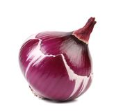 Peeled red onion bulb. Royalty Free Stock Images