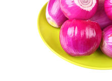 Peeled red onion Royalty Free Stock Image