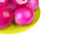Peeled red onion Royalty Free Stock Photography