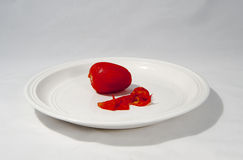 Peeled red tomato Royalty Free Stock Images
