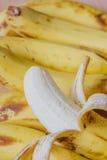 Peeled ripe banan Royalty Free Stock Image
