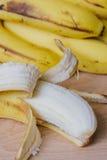 Peeled ripe banana Royalty Free Stock Photography