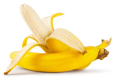 Peeled ripe banana Royalty Free Stock Images