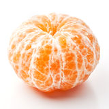 Peeled ripe mandarin Stock Photography
