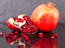 Peeled and ripe pomegranate Royalty Free Stock Images