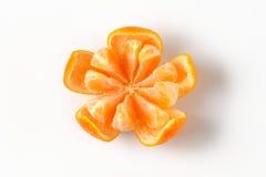 Peeled ripe tangerine Royalty Free Stock Photo