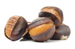 Peeled roasted chestnut Royalty Free Stock Images