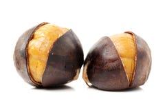 Peeled roasted chestnut Royalty Free Stock Photography
