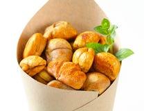 Peeled roasted chestnuts Stock Photos