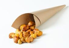 Peeled roasted chestnuts Royalty Free Stock Image