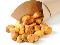 Peeled roasted chestnuts Royalty Free Stock Photography