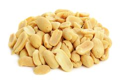 Peeled salted peanuts Stock Photo